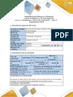 Guía de Actividades y Rúbrica de Evaluación Fase 5 - Sustentación Final