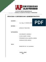 Trabajo Derecho Tributario - Proceso Contencioso Administrativo