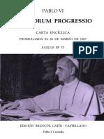 [Cartas Encíclicas 1] Papa Pablo VI, Pablo J. Castiella (Ed.) - Carta Encíclica Populorum Progressio (1967). Edición Bilingüe (2016, Pyrene Digital)[1]