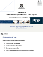 Semana 1 Introduccion a La Estadistica Descriptiva