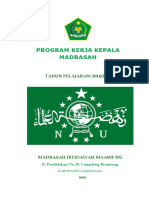 Proker Kepala Madrasah 2016-2017