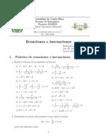 MATEM MA0125 Práctica de Ecuaciones e Inecuaciones (1)