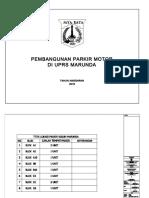 Gambar Pembangunan Parkir Motor Di UPRS Marunda