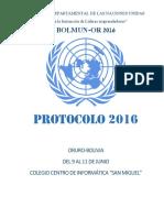 PROTOCOLO BOLMUNOR 2016