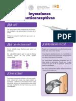 Inyecciones Anticonceptivas Ficha Informativa