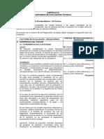 Factores de Evaluacion Carretera Palmapampa - Sanaamba
