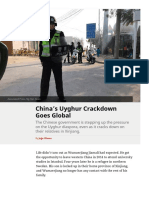 """Chinas Uyghur Crackdown Goes Global"", for The Diplomat"