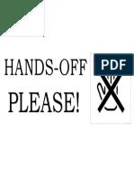 hands off signage.docx