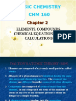 Chapter 2- Elements, Compounds, Chem Equations and Calculations