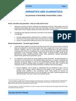 Bonds Warranties and Guarantees