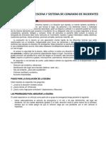 EVALUACIÓN DE LA ESCENA Y SISTEMA DE COMANDO DE INCIDENTES