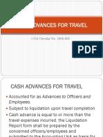 Cash Advances for Travel