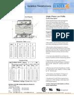 Isolation Transformer Datasheet