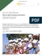African Best Festivals