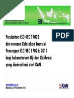 Perubahan Dan Transisi Penerapan 17025(1)
