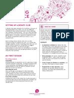 Setting Up a Debate Club Guide