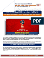 FIFA World Cup 2018 Important Highlights & Award List for Competitive Exams PDF@Www.letsstudytogether.co