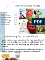 Healthy Eating for an Active Lifestyle PPT