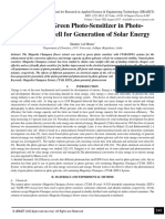 Role of Green Photo-Sensitizer in Photo- Galvanic Cell for Generation of Solar Energy