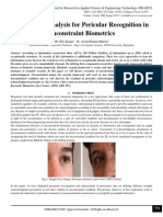 Parameters Analysis for Pericular Recognition in Unconstraint Biometrics