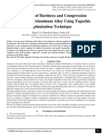 Evaluation of Hardness and Compression Properties of Aluminum Alloy Using Taguchis Optimization Technique
