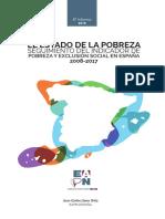 8º Informe anual sobre el estado de la pobreza y la exclusión social en España (AROPE 2018)
