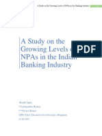 A Study on the Growing Levels of NPAs in the Indian Banking Industry