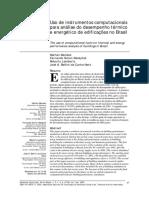 Uso de instrumentos computacionais para análise do desempenho térmico e energético de edificações no Brasil