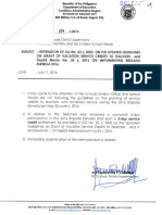 Division Memo No. 189 S. 2016 Reiteration of DO No. 53 s. 2003 on the Updated Guidelines on Grant of Vacation Service Credits to Teachers and DepEd Memo No. 35 s. 2016 on Implementing Brigada Eskwela 2016