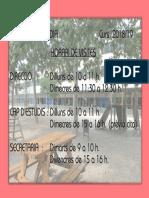 Horari de l'equip directiu de l'Escola Elisa Badia. 2018-2019
