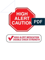 Label Untuk Lemari High Alert