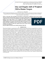 Estimation of Delay and Doppler shift of Weighted OFDM of Radar Targets