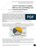 Calculation of Annual Consumption of Lighting Energy for Five Different Cities and Building Types and a Control System Proposal