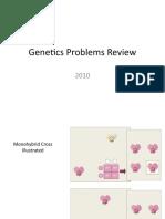 Genetics Problems Review 2010 2011