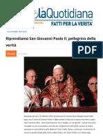 Riprendiamo San Giovanni Paolo II Pellegrino Della Verita