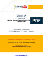 Valid Microsoft 70-533 Exam Question Answer