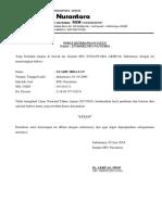 Surat Keterangan Lulus Mts Syarif