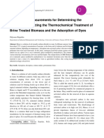 1-Execution of Measurements for Determining the Parameters Affecting the Thermochemical Treatment of Brine Treated Biomass and the Adsorption of Dyes
