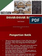 Pengertian Batik