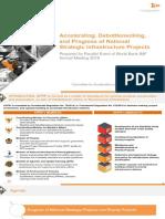 Accelerating, Debottlenecking, and Progress of National Strategic Infrastructure Projects