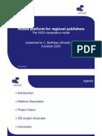 Mobile platform for regional publishers
