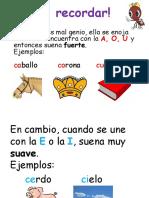 Conciencia Fonologica Uso de La c