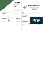 Form Hasil Lab Sederhana Klinik