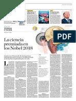 La Ciencia Premiada en Los Nobel 2018