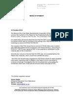 FDC Media Statement