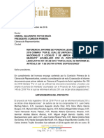 Ponencia Pal 105 de 2018 Cámara - Unifiación Periodos