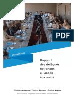 Rapport des délégués nationaux à l'accès aux soins