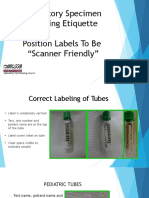 Laboratory Specimen Labeling Etiquette