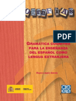 Gramatica Cognitiva Para La Ensenanza Del Espanol Como Lengua Extranjera