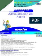 Administracion Del Aceite - Komatsu